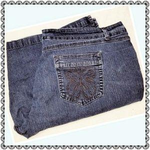 {JMS} stretch jean/denim shorts, blue, plus sz 26